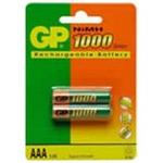 GP R3 NiMH 1000, dobíjecí AAA baterie, 970mAh, 2 ks v balení (GP R3 NiMH 1000)