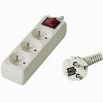 PremiumCord Prodlužovací přívod 230V 2m 3z +vypínač (8592220002800)