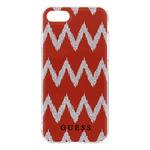 GUESS Ethnic Chic Chevron 3D TPU Pouzdro pro Apple iPhone 7 Plus červená (3700740386484)