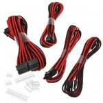 Phanteks sada prodlužovacích kabelů černo-červená / 50cm / 24-Pin ATX / 8-Pin EPS / 2x 6+2-Pin