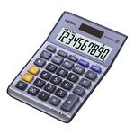 CASIO MS 100 TER II stříbrná / stolní kalkulačka / desetimístná (MS 100 TER II)