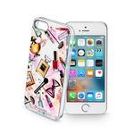 CellularLine STYLE Průhledné gelové pouzdro pro Apple iPhone 5 5S SE motiv GLAM (STYCS17GLAMIPH5)