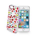 CellularLine STYLE Průhledné gelové pouzdro pro Apple iPhone 5 5S SE motiv POP (STYCS17POPIPH5)