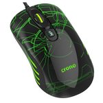 Crono herní laserová myš OP-636G / 3200 dpi / USB / LED podsvícení / černo-zelená (CM636G)