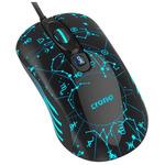 Crono herní laserová myš OP-636B / 3200 dpi / USB / LED podsvícení / černo-modrá (CM636B)