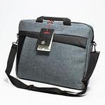 OEM Logo Trendy taška na notebook / taška s popruhem / 15.6 / šedá z plátna (OMT156NJA00L)