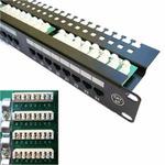 DATACOM Patch panel 24x / RJ-45 / CAT5E / UTP / 19 / s vyvázáním (5027121222)