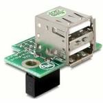 Adaptér USB ze základní desky na 2x USB A samice vodorovný (41761)