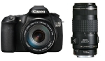 "Canon EOS 60D + EF 17-85mm IS + EF 70-300mm IS / 18 Mpix / CMOS APS-C / 3"" LCD"