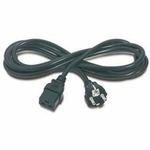 PremiumCord napájecí kabel IEC 320 C19 na CEE7, délka 2,7m (kpspa)