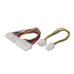 Digitus PSU Adapter Cable ATX 20pin - BTX 24pin connector + 1x ATX 12V 8pin - 4pin, UL (AK ATX-ADAP)