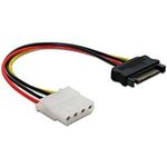 Power Adapter SATA 15-pin samec na Molex samice 4-pin, 12cm (60115)
