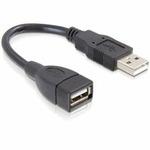Delock USB 2.0 kabel, prodlužující A-A samec/samice 13 cm (82457)