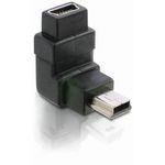 DeLock Adaptér USB mini B 5-pin 90° samec na USB mini B samice (65096)