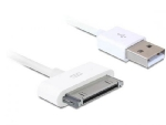 Delock USB nap�jec� a datov� kabel  iPhone 4, b�l�, 1m