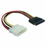 Redukce napájení MOLEX 4-pin na SATA 15-pin přímý, 6 cm (60112)