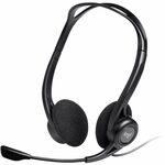 Logitech Headset 960 Stereo Headset USB, stereo sluchátka s mikrofonem, USB (981-000100)