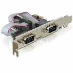Delock adaptér PCI Express x1 2x sériový port + low profile (89220)