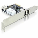 Adaptér PCI Express x1 2+1x FireWire port + low profile (89213)