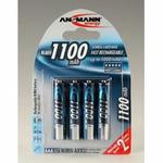Ansmann akumulátor AAA NiMH 1100 mAh (4 ks) (7521)