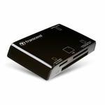 Transcend USB čtečka paměťových karet, černá - SD,SDHC,microSD, microSDHC, Memory Stick, MMC, ... (TS-RDP8K)