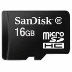 SanDisk micro SDHC karta 16GB + adaptér (46992)