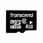 Transcend micro SDHC karta 4GB Class 6 bez adaptéru (TS4GUSDC6)