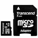 Transcend micro SDHC karta 4GB Class 6 + adaptér (TS4GUSDHC6)