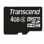 Transcend micro SDHC karta 4GB Class 4 bez adaptéru (TS4GUSDC4)