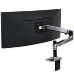 ERGOTRON LX Desk Mount Arm, Polished Aluminum, stolní rameno max 24 LCD / výprodej (45-241-026)
