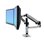ERGOTRON LX REDESIGN DUAL ARM, POLE MOUNT, Pro 2 LCD, nebo 1LCD a NOTEBOOK, Polished Aluminum