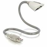 Delock USB LED reflektor pro notebook bílý (46234)