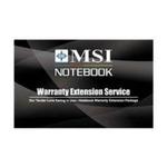 MSI NB Warranty Extension Card - rozšíření záruky ntb na 3 roky (NB Warranty Extension Card)