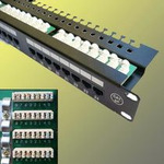 UTP Patch panel 24 port Cat.5E Black L type (4002)