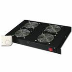 DIGITUS 19 větrací jednotka 1U, 4 ventilátory, černá / výprodej (DN-19 FAN-4-HO-SW)