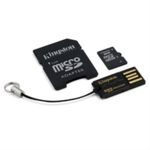 Kingston microSDHC 8GB + mobility adaptér / Class 4 / 4MB čtení/4MB zápis vhodné do 5MPix foto/mobil (MBLY4G2/8GB)