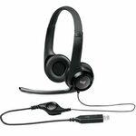 Logitech Headset H390 / USB / stereo sluchátka s mikrofonem (981-000406)