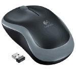 Logitech myš Wireless Mouse M185 Swift Grey, nano, podpora unifying (910-002238)