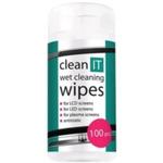 CLEAN IT čistící ubrousky mokré na LCD/TFT 100ks (CL-4)