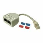 Rozdvojka PC-tel. Solarix (13206440)