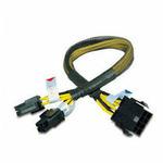 AKASA kabel redukce napájení 8Pin(M) to 8Pin/2x4Pin(F) 30cm (AK-CB8-8-EXT)