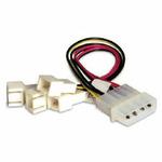 AKASA kabel redukce 4-pin PSU molex na 4x 3-pin fan, redukce otáček (AK-CB001) - Akasa AK-CB001