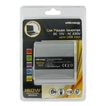 WHITENERGY Měnič napětí DC AC / 12V / 230V / 150W / USB (09409)