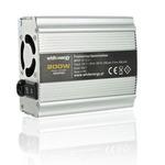 WHITENERGY Měnič napětí DC AC / 12V / 230V / 200W / USB (06577)