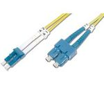 DIGITUS Fiber Optic Patch Cord, LC to SC Singlemode 09/125 µ, Duplex Length 1m (4016032249634)