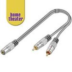 Home Theater HQ adaptér Jack 3,5mm stereo - 2 x CINCH stereo 15cm (4040849526510)