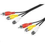 PremiumCord Kabel 3x CINCH-3x CINCH M/M 2m (8592220005450)