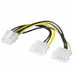 Premium-Cord Redukce napájecí 2x5.25 Molex - 8 pin pro PCI-E grafické karty (8592220011147)