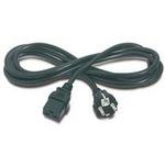 PremiumCord Kabel síťový k počítači 230V 16A 3m IEC 320 C19 konektor (8592220005221) - PREMIUMCORD n