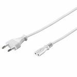 PremiumCord Kabel síťový 230V k magnetofonu 3m bílý (8592220006167) - OEM PremiumCord Kabel síťový 230V k magnetofonu 3m, bílý KPSPM3W